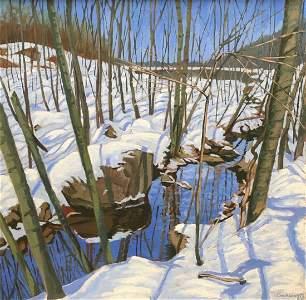 Contemporary Winter Landscape, Illegible Signature