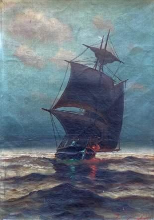 RICHARD  DEY DE RIBCOWSKY (1880-1936, California) Sea