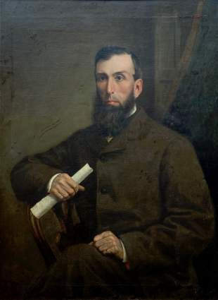 Late 19th Century Portrait Of A Gentleman, Signed