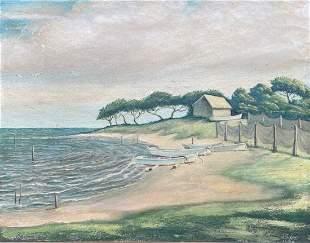 JOHN GILES (20th c, Australia) Coastal Landscape