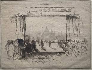 JOSEPH PENNELL (1857 - 1926, PA ) Cafe Orientale Venice