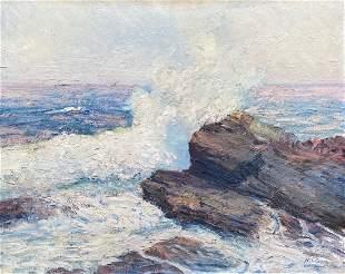 Early 20th Century Impressionist Coastal Scene, Signed