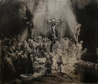 After REMBRANDT, The Crucifixion Etching