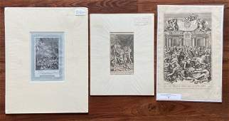 Grouping Of 3 Old Master European Prints
