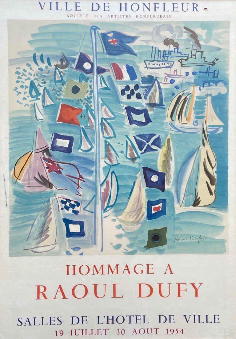 RAOUL DUFY, Original Exhibition Poster 1954
