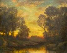 EMIL HERMANN (1871-1966, Texas) Landscape