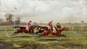 ALFRED STEINACKER (1838-1914, Austria) Horse Racing