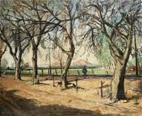 WERNER PHILIPP (1897-1982, Arizona) Road To Scottsdale