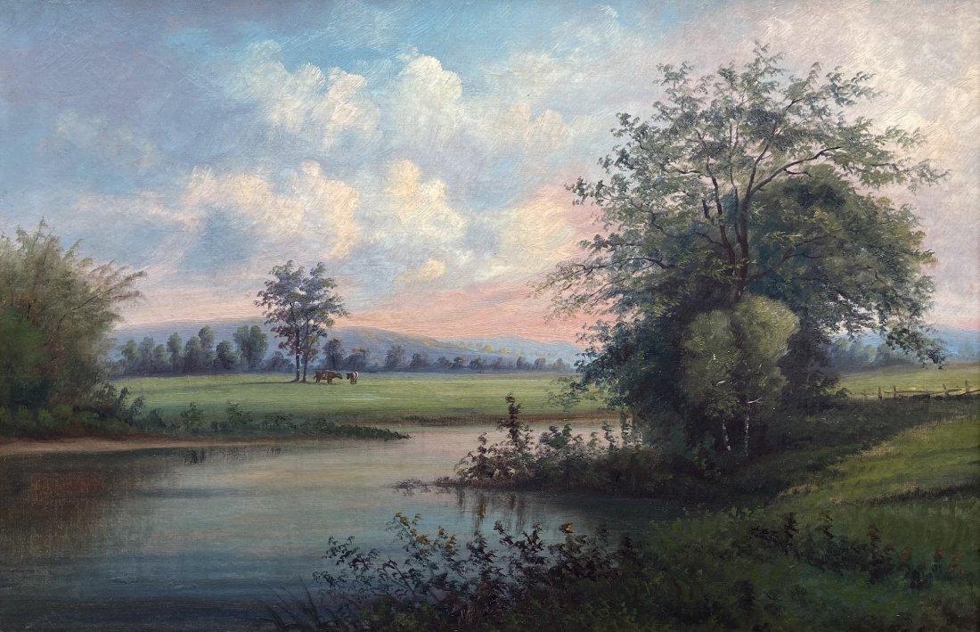 19th Century Hudson River School Landscape, Unsigned