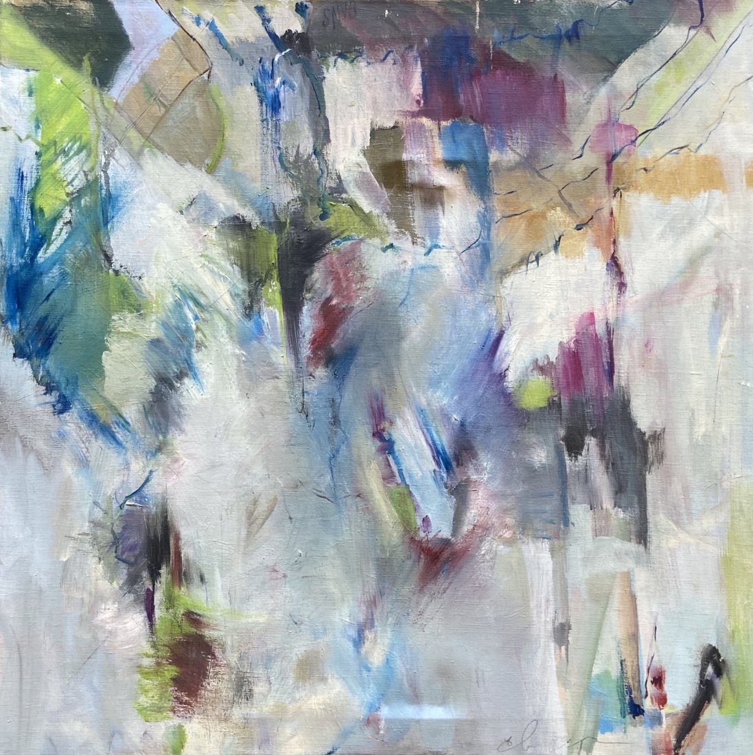 Abstract Expressionist Painting, Illegible Signature