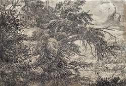JACOB VAN RUISDAEL (1628-1682, Dutch) Etching