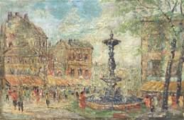 ANDRE BOYER 19091981 French Paris Street Scene