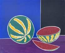 THOMAS M BARNETT 20th c American Modernist Still Life
