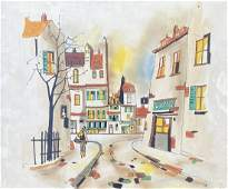GEORGES DAMIN b 1944 French Paris Street Scene