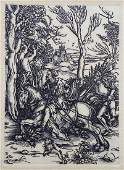 After Albrecht Dürer The Knight and Man-at-arms Etching