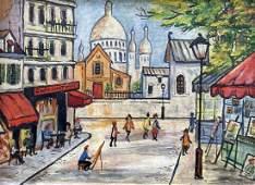CHARLES MILLER (20th c, American) Paris Street Scene