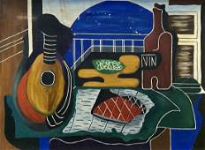 Mid-Century Cubist Still Life Signed & Dated 1954