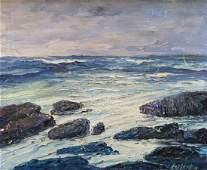 LEONID GECHTOFF (1883-1941, Pennsylvania) Seascape