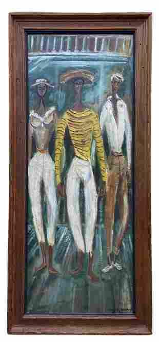 EDWARD WARREN (20th c, American) Latin Figures
