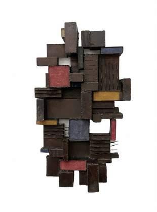 Mid-Century Modern Metal Sculpture, Paul Evans Style