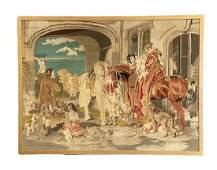 19th/18th Century Tapestry, Romantic Scene
