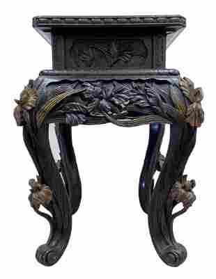 19th Century Oriental Carved Stand