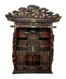 Japanese Meji Period Cabinet Temple Shrine