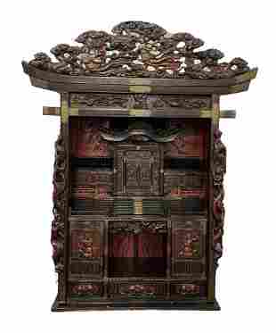 Japanese Meji Period Cabinet Temple Shrine