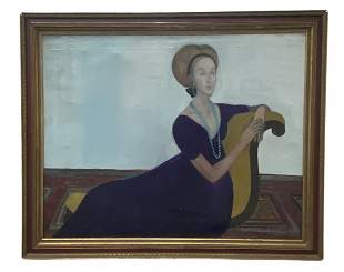 Modernist Seated Woman, Signed