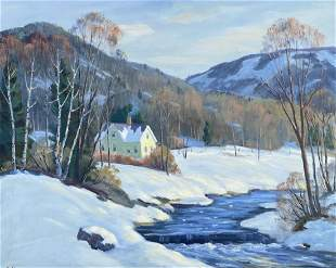 GEORGE HOLLOWAY (1882-1977, UK) Winter