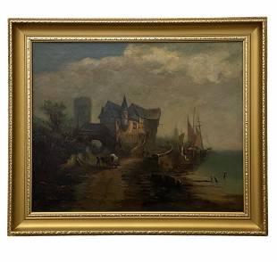 19th Century French Barbizon School Landscape