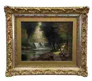 19th Century Hudson River School Painting, Signed