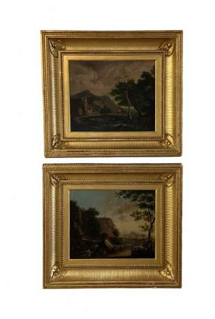 Pair Of Antique European Landscapes
