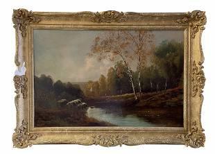 American Impressionist Hudson River School Landscape