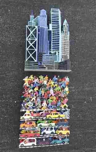 "DAVID GERSTEIN (b. 1944, New York) ""New York Traffic"""