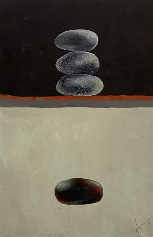 Futuristic Surrealist Abstract Illegible Signature