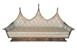Rare Hollywood Regency James Mont Style Sofa