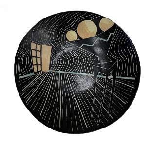 Artist Signed Studio Pottery Ceramic Plate