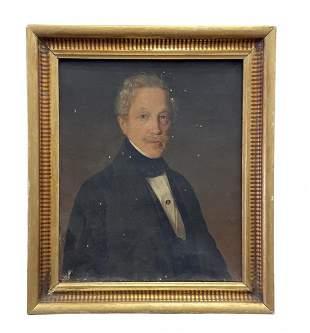 19th Century Scandinavian Portrait Of Gentleman Signed