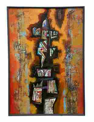 Cuban Abstract Signed D. Oriega 1994