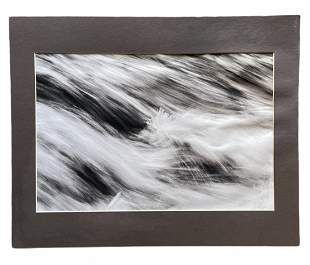 """""""Blue Sheets"""", Signed Contemporary Abstract Photograph"""