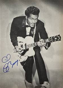 Vintage Signed Chuck Berry Photograph w/ COA