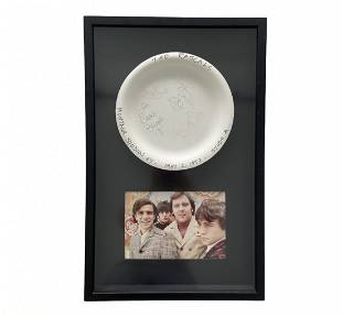 THE RASCALS, Signed Plate w/ Photograph Framed