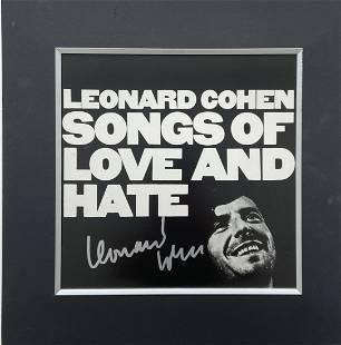 "Leonard Cohen ""Songs Of Love & Hate"" Signed, COA"