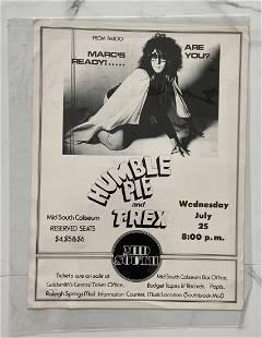 Humble Pie & T-Rex Original Concert Poster 1973