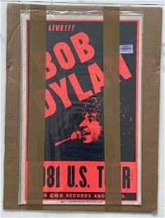 Bob Dylan US Tour 1981 Poster