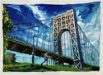Bob Dylan, Under The Bridge, Signed Artwork COA
