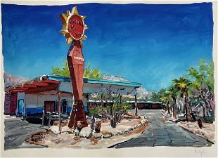 Bob Dylan, Motel In New Mexico, Signed Artwork COA
