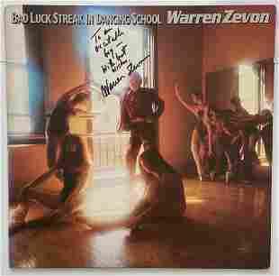 Warren Zevon, Signed Record Album w/ COA