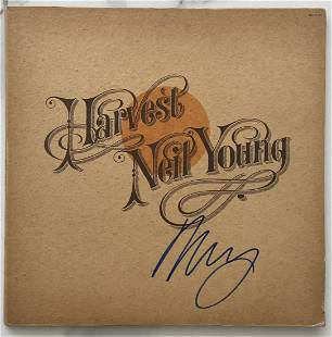 Neil Young , Harvest Moon Signed Record Album Certified